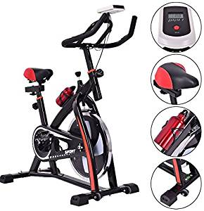 K&A Company Indoor Exercise Bike Bicycle Fitness Cycling Stationary Cardio Workout Gym Home Health Trainer Cycle Upright Pedal New Pro