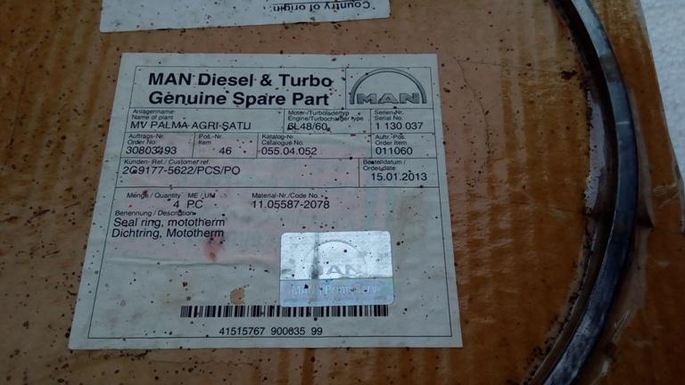 MAN B&W 6L48/60, 7L48/60, 8L48/60, 9L48/60 ENGINE & ITS SPARES