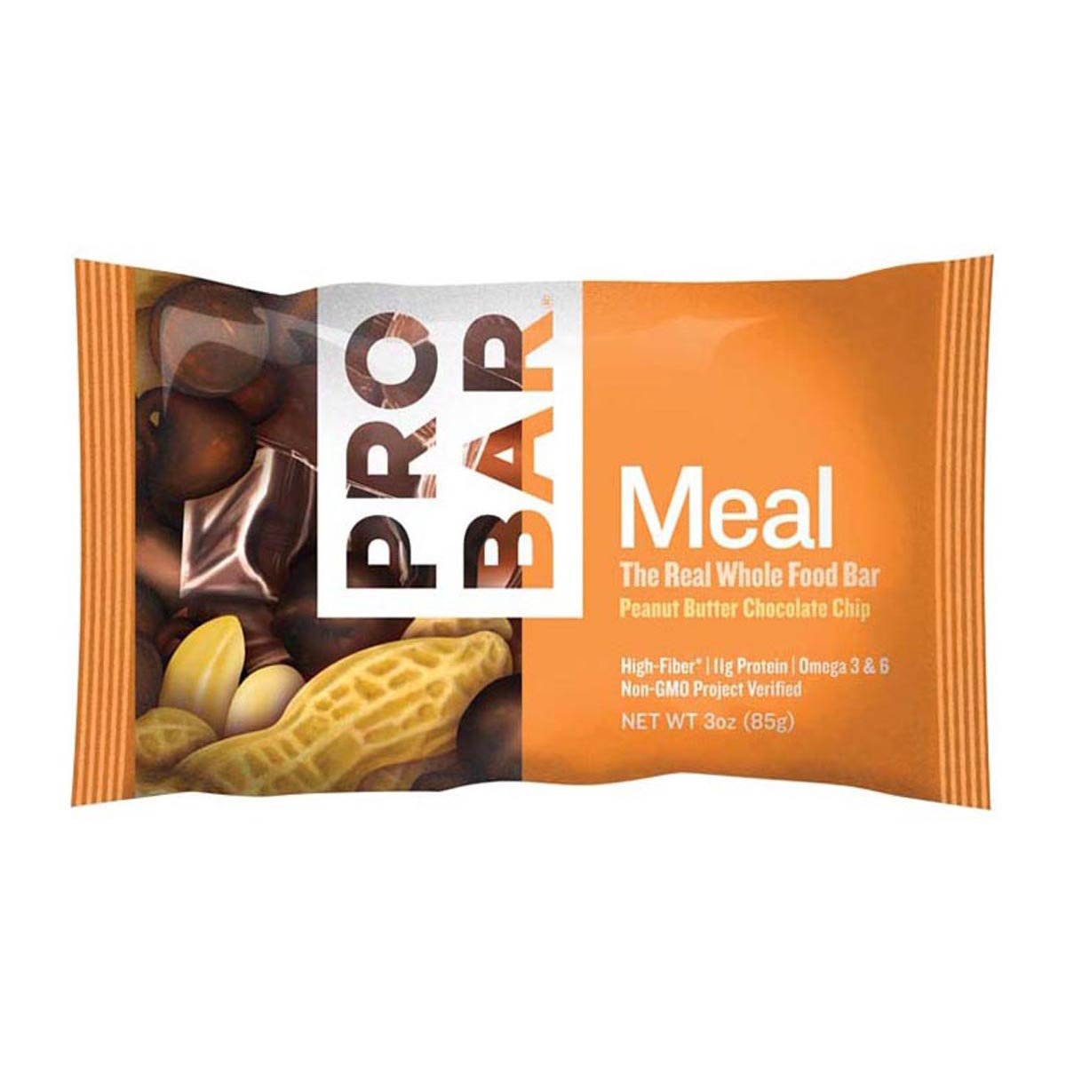 PROBAR - Meal Bar - Peanut Butter Chocolate Chip - Gluten Free, Non-GMO Project Verified, Plant-Based Organic Whole Food Ingredients, 10g Protein, 6g Fiber - Pack of 12 Bars