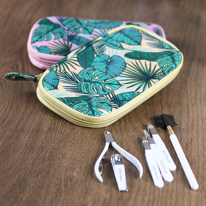 2019 Professional Manicure Pedicure Bags Girl's Nail Care Tool Kit Manicure Zipper Bag With Mirror