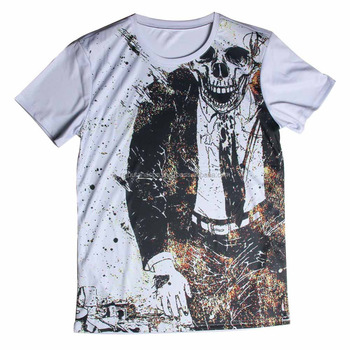 Pattern T Printing Skull Wear Design 3d Shirt Man's Sublimation 8OwkX0PNn