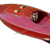 FLYER WOODEN SPEED BOAT MODEL - CRAFT BOAT MODEL