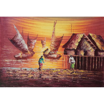 Hot Selling Indonesia Fishing Village Oil Painting Canvas For Commercial Decor Wall Art Paint  sc 1 st  Alibaba & Hot Selling Indonesia Fishing Village Oil Painting Canvas For ...