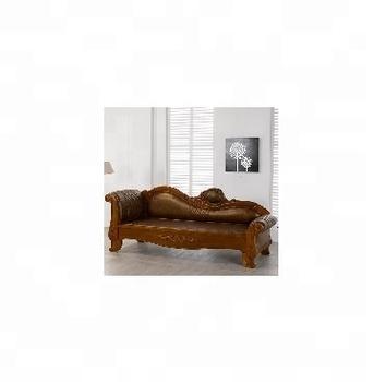 Solid Wood Frame Leather Modern
