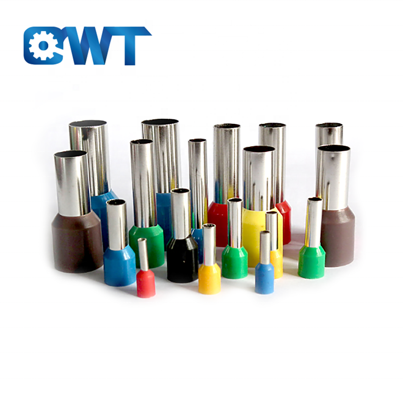 QWT female pre-insulated joint crimp copper bootlace wire ferrules , insulated cord end ks terminals, copper ferrule connectors