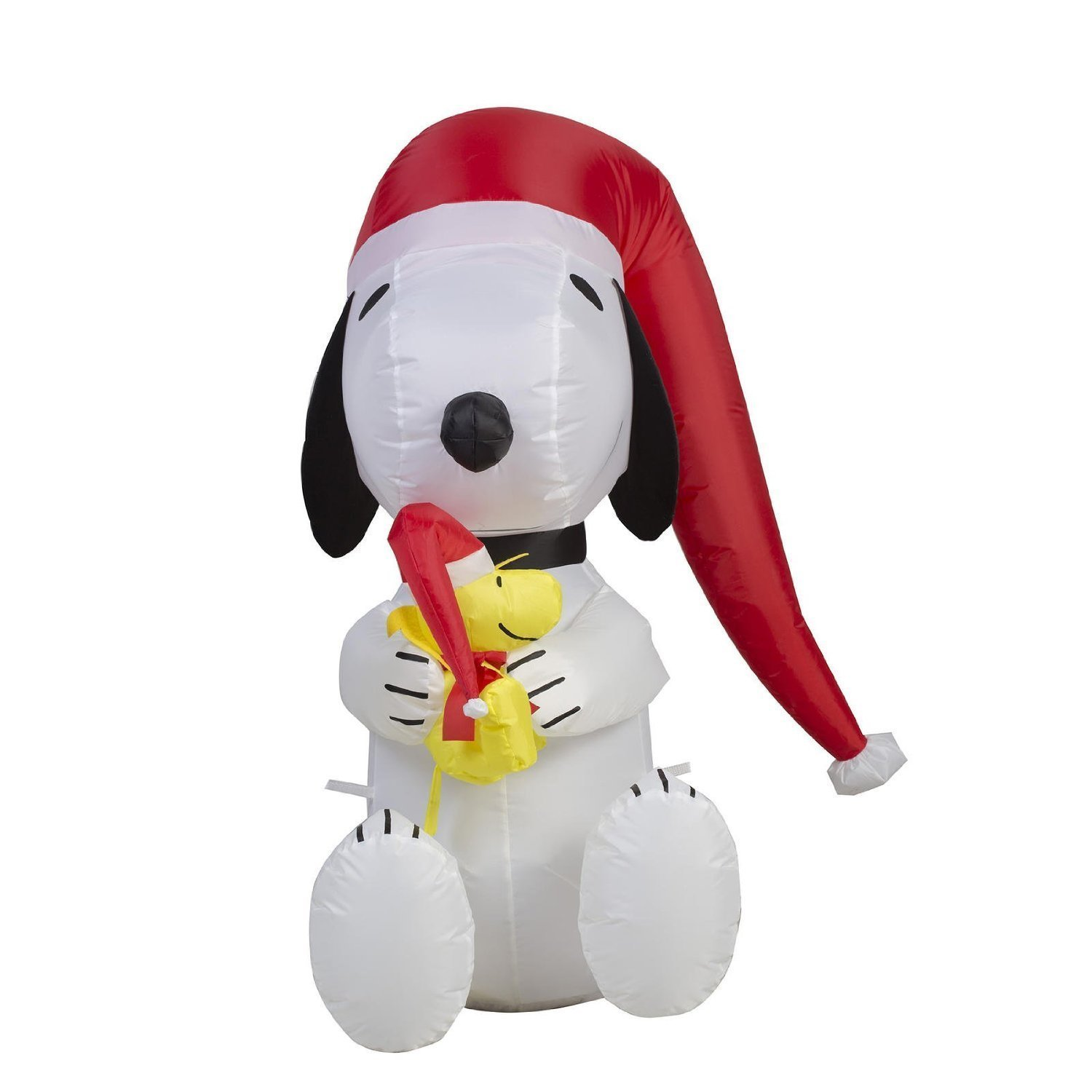 get quotations airblown inflatable peanuts 3 led lighted snoopy and woodstock - Snoopy Blow Up Christmas Decorations
