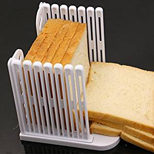 Custom Extra Foldable Bread Slicer - Bread Slicer for Homemade Bread & Loaf Cakes - Knife Slicing Guide - Loaf Sandwich Bread Slicer - Toast Slice Cutter Mold
