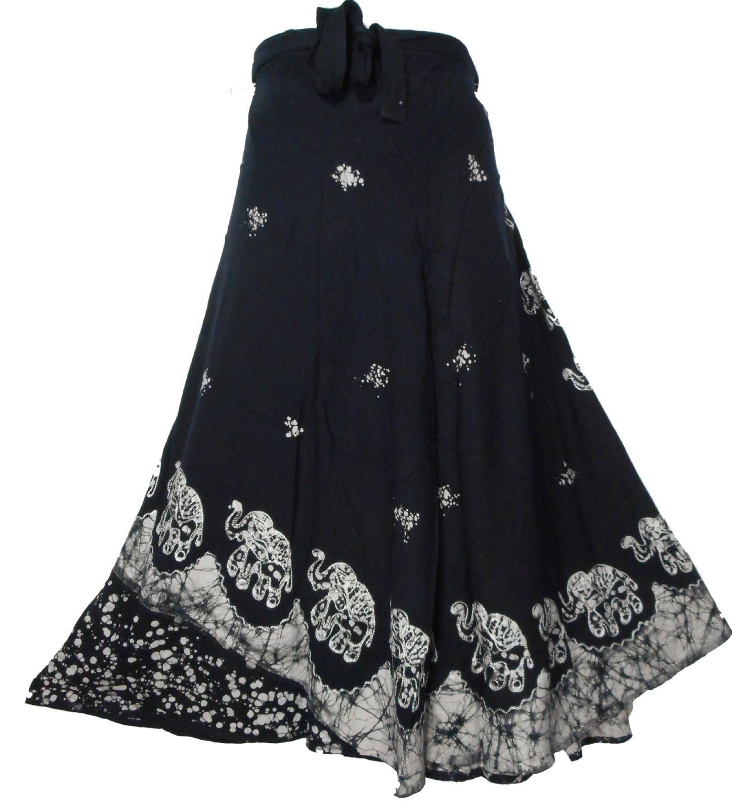 5276bff6cd Get Quotations · Decoraapparel Batik Wrap Around Skirt African Wax Print  Women Flared Skirt Maxi Bright Colors