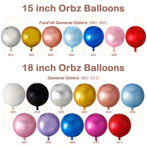 Hot Sale 4D balloons Hight Quality Orbz All Round Foil Balloons