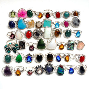 Abalone Shell Wholesale Lot 50 Pc 925 Silver Overlay Pretty Ring