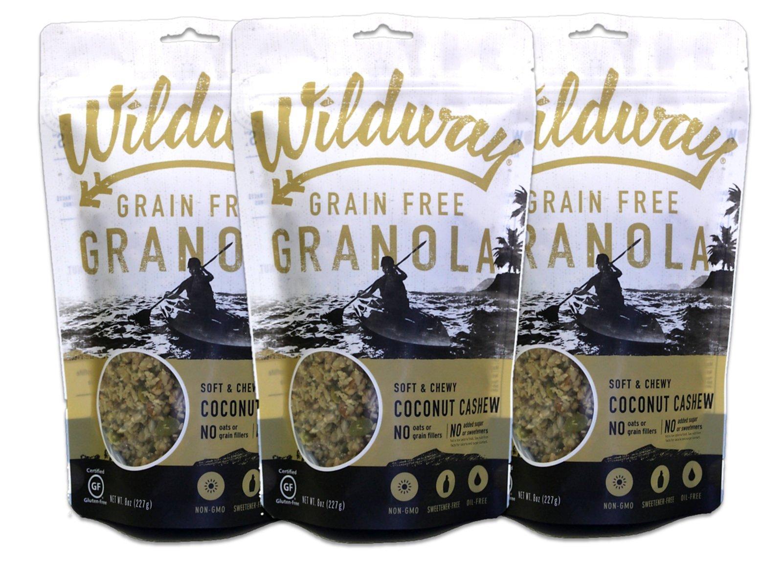 Wildway Coconut Cashew Grain-free Granola, 8oz - 3 Pack (Certified gluten-free, Paleo, Vegan, Non-GMO)