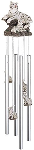 StealStreet Round Top White Tiger Hanging Garden Decoration Wind Chime