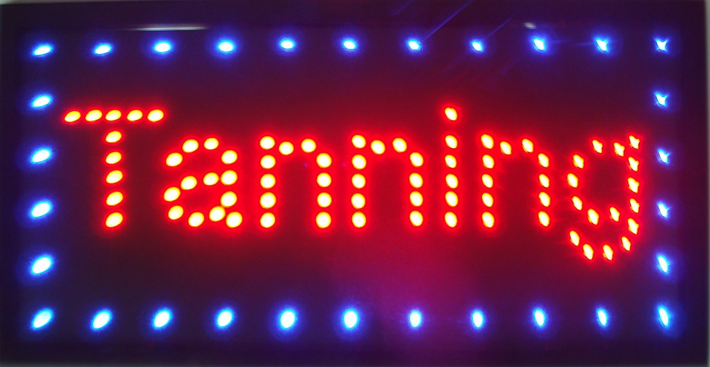 CHENXI Led Tanning/ Coiffure Signs Business Store Neon Signs Led Light Signs 48 X 25 CM Indoor (48 X 25 CM, TANNING)
