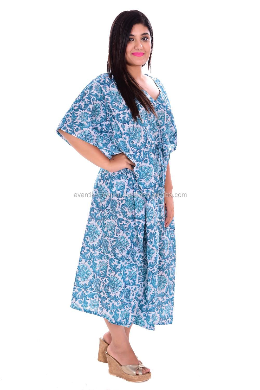 2005eb9757 Summer Beach Wear Kaftan Handmade Girls Sexy Night Wear Dress Tunic ...
