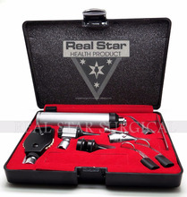Real Star ENT Diagnostic Complete Set Otoscope Head with 3 reusable Aural Specula Ophthalmoscope Head