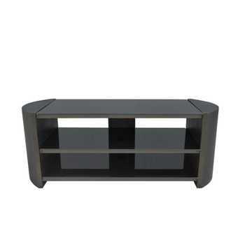 Simple black durable lcd tv cabinet design RM017B