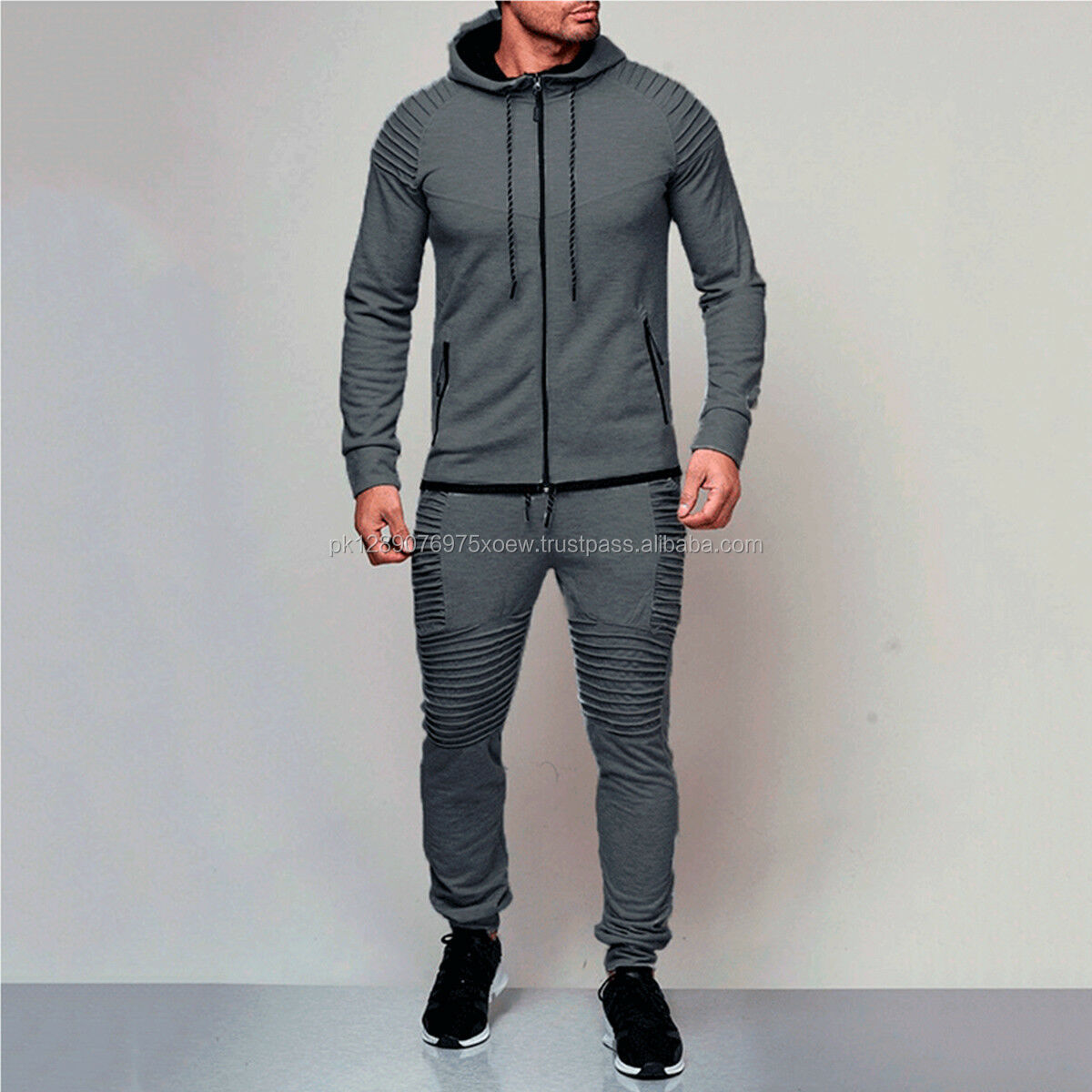 custom 2019 OEM Sportswear Gym Popular Tracksuit, Blank Sets Training Center Sportswear Men Tracksuit, Popular Blank Men Slim Fi