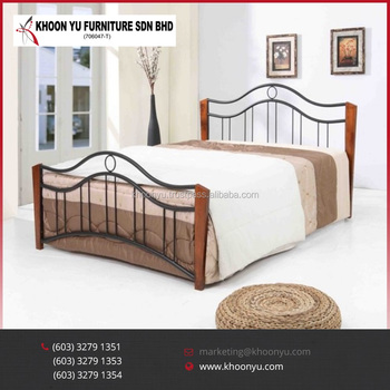Best Selling Queen Size Bed Jenny Double Bed Metal Bed Frame Bedroom ...