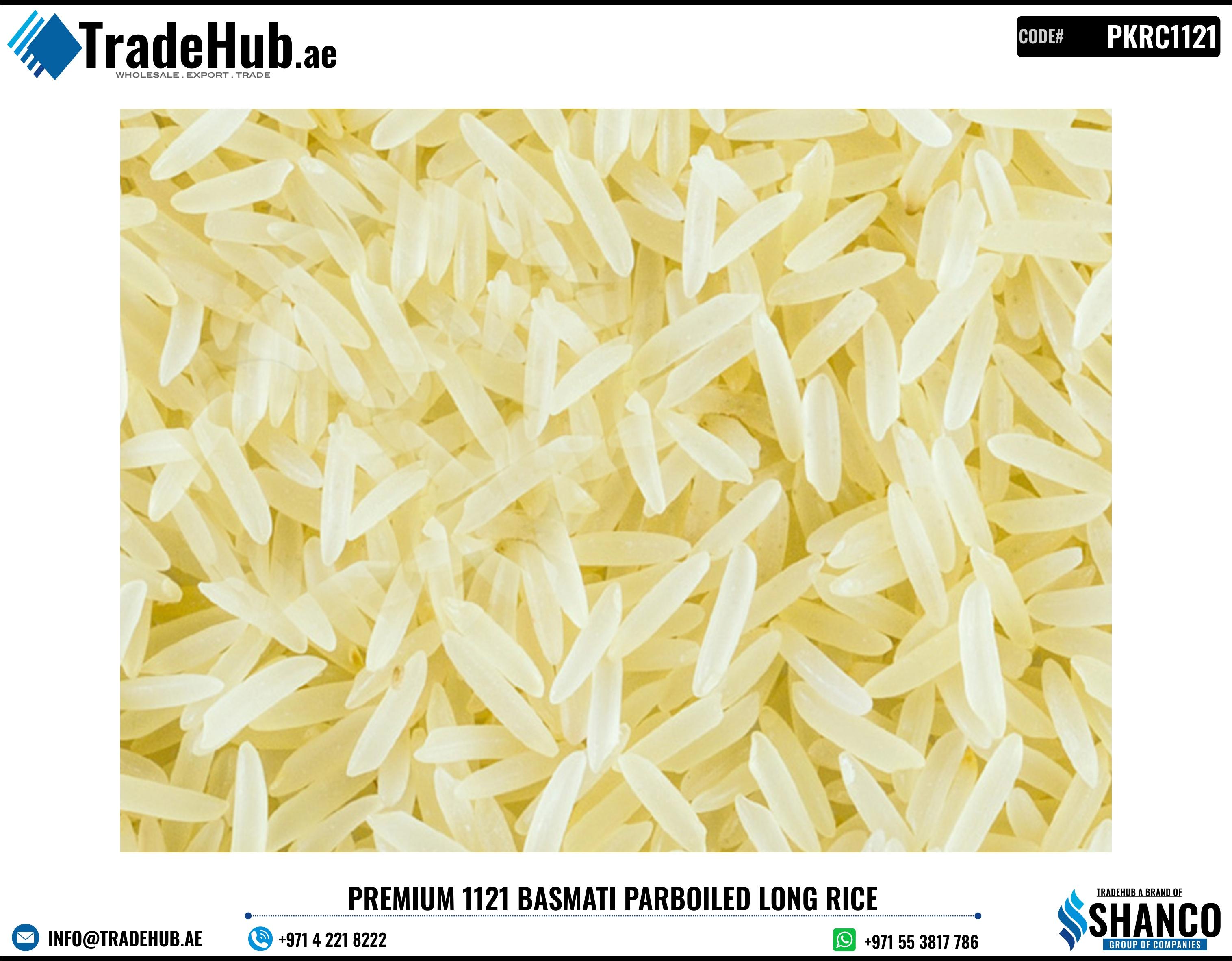 Premium Basmati Rice, 1121 Basmati Rice, Pakistani Parboiled Long Grain Rice, Basmati Golden Sella Rice, Sella Rice - PKRC0001