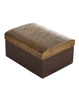 Natural Brass And Floral Hand Embossed Work Wood And Metal Large Jewellery Holder Box