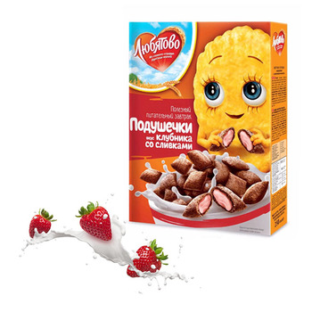 Healthy Breakfast Cereal Strawberry Flavor With Cream Breakfast