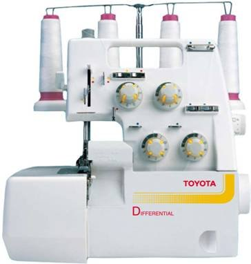Toyota 2/3/4 Thread Serger/Overlock with Differential Feed-- Exclusive Listing by Johnston's Vac & Sew