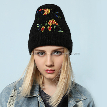 discount lowest price wholesale online Stylish Women Winter Hat Cap Knitted Hats For Women Casual Embroidery  Beanies Female Winter Hats2017 - Buy Winter Hats For Women,Womans Winter ...