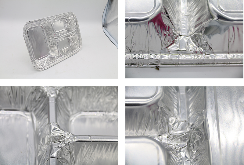 compartment food foil container with lid