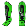 Custom High Quality Muay Thai Hook and Loop Strap Kickboxing Muay Thai MMA Shin Guards Green