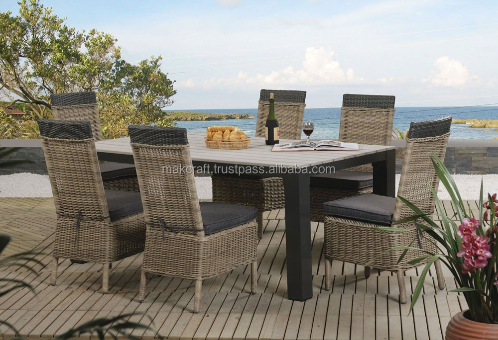 Poly Rattan Pe Pvc Luxury Dining Room Furniture Resin Wicker