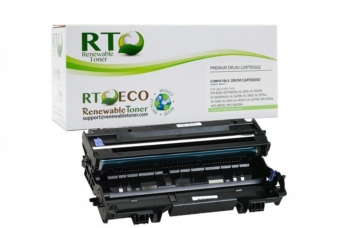 RT DR500 Compatible Drum Cartridge Replacement Brother DR510 for DCP-8020 HL-1650 HL-5050 MFC-8820 (Drum Only, Toner Not Included)