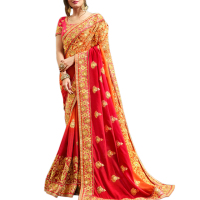 Party wear designer Heavy Embroidery silk Saree online