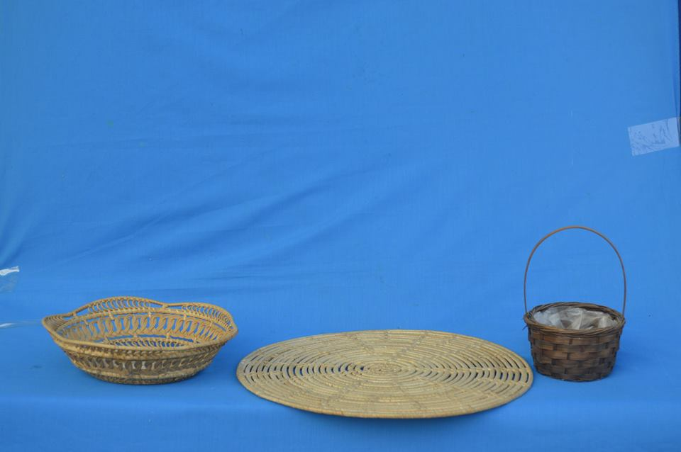 Cestaria de vimeAtacado cesta de tricô pura planta, verde saudável, cesta de armazenamento feitos à mão, material de cozinha