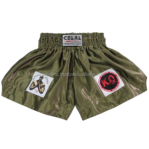 Olive Green Boxing Thai Shorts