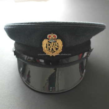 Officer Embroidery Peak Caps,Best Quality Royal Air Force Peak Caps - Buy  Officer Embroidery Peak Caps,Military Officer Cap,Raf Officer Hat Product  on