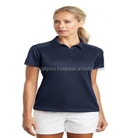 ladies polyester promotional micro interlock polo shirts