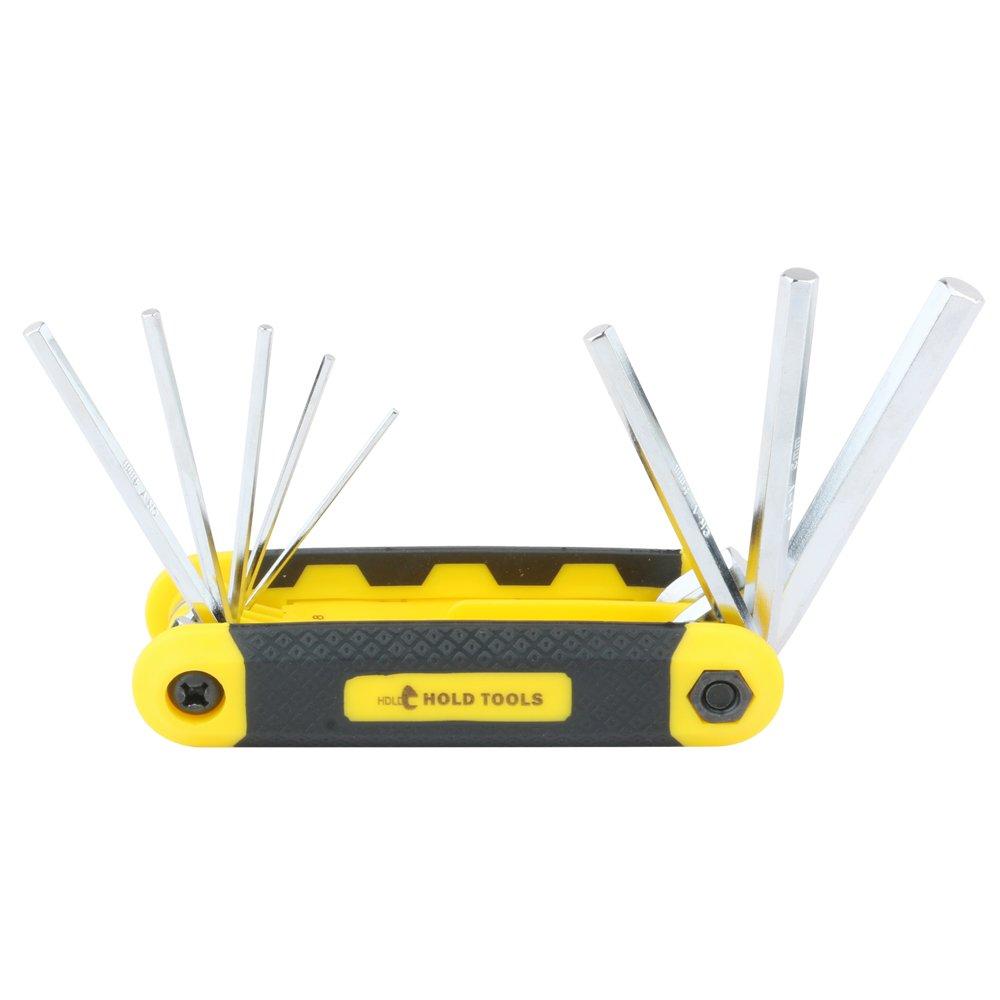 DOWELL 8 PCS Metric Folding Hex Key Wrench Set