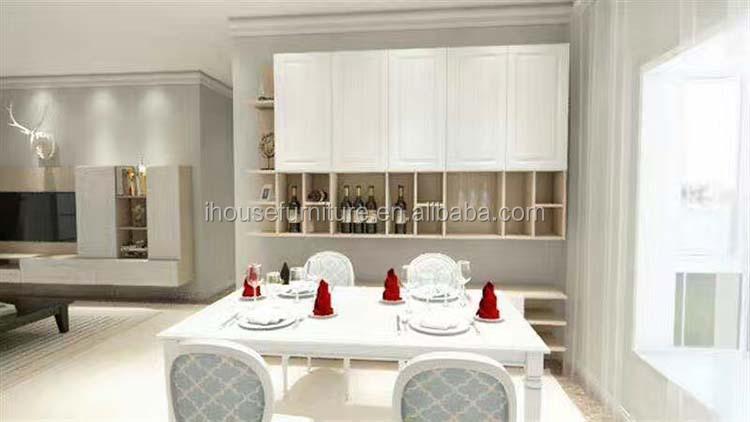 China High Quality Antique White Wine Cabinet Glass Liquor Cabinet ...