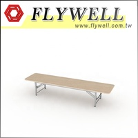 45 x 31cm Short Folding Table With Silver Finish