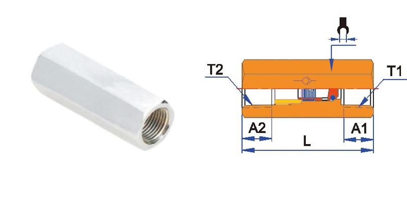 CVPFF 스트레이트 라인 여성 원터치 체크 공압 밸브