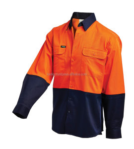 Work Wear 2 TONE DRILL SHIRT