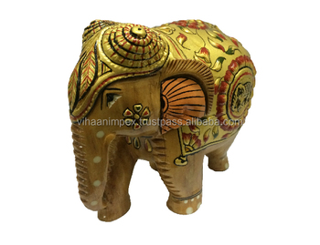 Wholesale Exclusive Indian Wooden Handicraft Handmade Embossed Paint