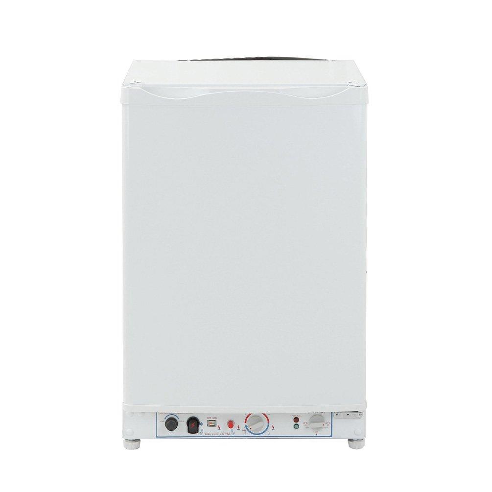 SMETA Gas Refrigerator Freezer Propane LP Compact 3-Way Fridge Cabin Camping Home Minibar Cooler,3.4Cu ft,White