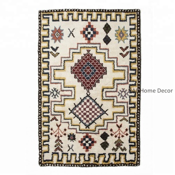 Handmade Wool Area Rugs Indian Moroccan Floor Whole Modern Carpets And Living Room