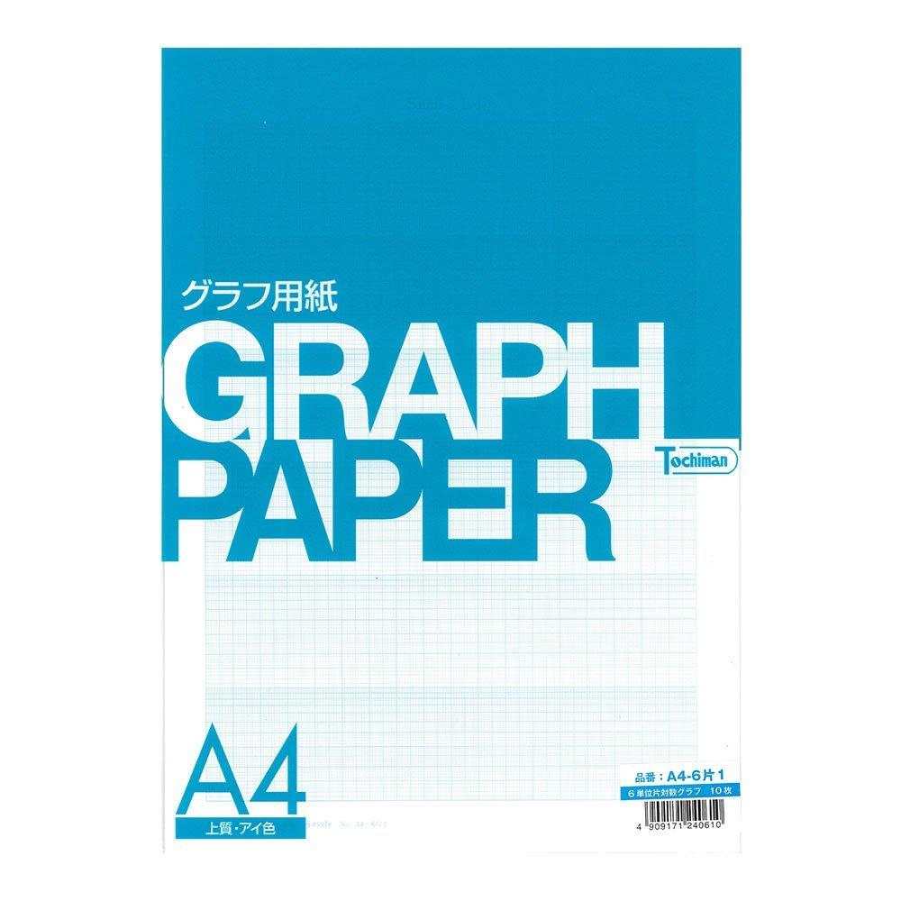 Sakaeshigyo Tochiman special semi-logarithmic graph (Semi-Log) paper 81.4g 41.5mm ¡Ñ 6 unit memory A4 10 sheets eye color A4-6 pieces 1
