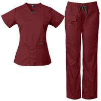 Womens scrub set Utility 4 pocket top, 7 Pocket pant with D-ring