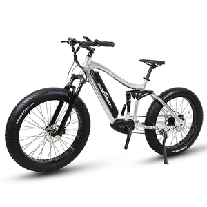 Full suspension 26 inch fat tire mountain electric bike with SAMSUNG battery
