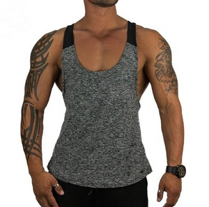 Wholesale T-Back Men String Vest Men's Mesh Muscle Slim Fit Fitness Singlet