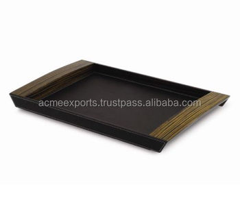 MDF leather Serving Trays , Unique leather serving trays , Airlines Serving Trays , Food Serving Trays , Coin Caddy Leather Tray