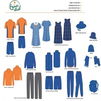 Custom logo design high quality cotton school Uniform with cheap price from Bangladesh